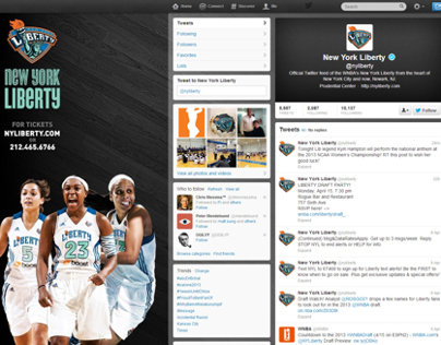 2013 New York Liberty Facebook & Twitter