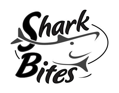 Shark Bites logo and identity design