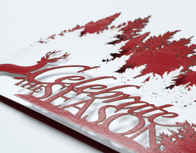 Tri-fold Laser Cut Holiday Card