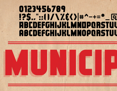 MUNICIPAL - FREE Type face