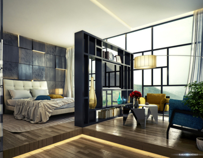 Making of Mondrian Inspired Hotel Room