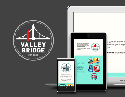 Valley Bridge responsive website & branding