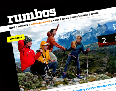 Web de la revista Rumbos