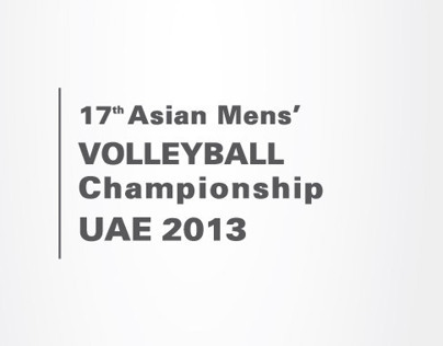 asian volleyball 2013 UAE - LOGO