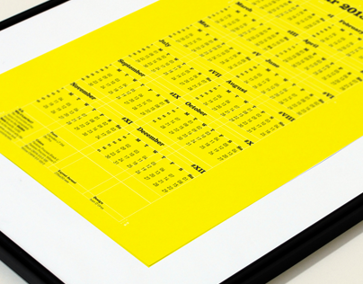 Calendar 2013 | Golden Ratio layout