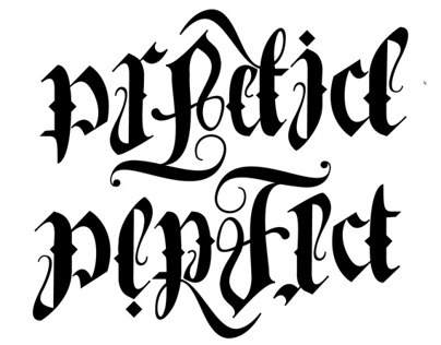 New Practice/Perfect Ambigram