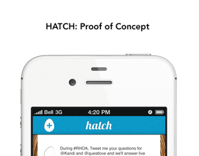 Hatch Mobile App Concept For Nitch Apps