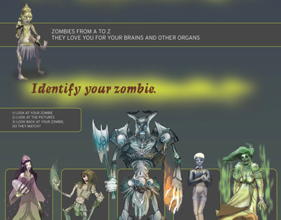 Zombie Classification infographic