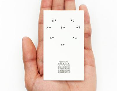Miniature Letterpress Calendars