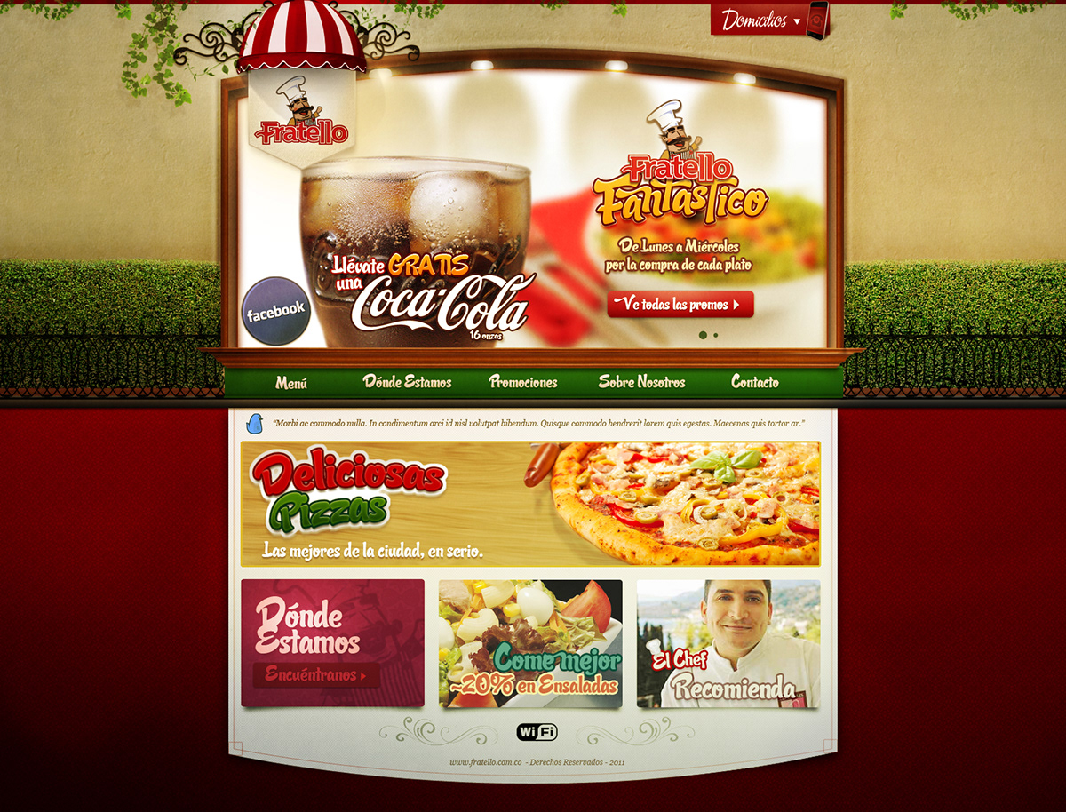 Fratello - Italian Restaurant Website