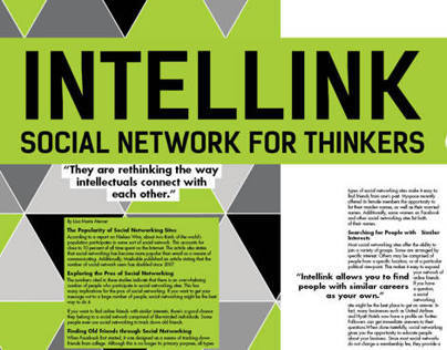 Intellink editorial design