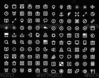 120 Best vector icons with photoshop PSD