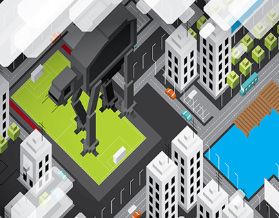 axonometric city