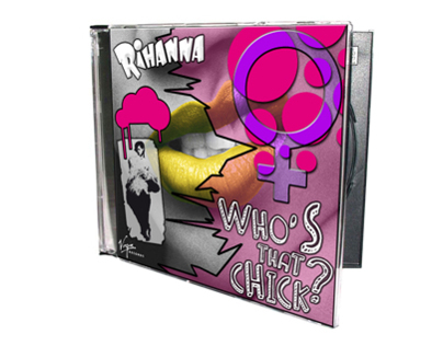 "Rihanna's single ""Who's that chick?""."