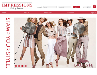 Impressions Fitting System Website