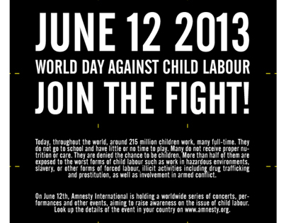 World day against child labour - Amnesty