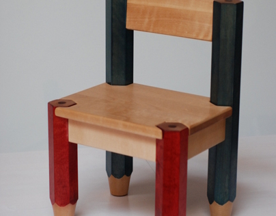 Lasten kynätuoli (childrens pencil chair)