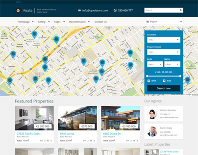Realia, Drupal Retina Ready Real Estate Theme