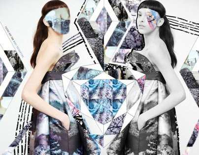 Fashion Collage ( Mary Katrantzou) AW13