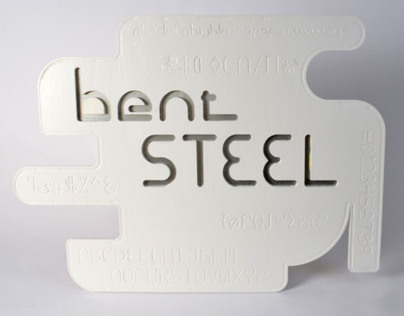 Bent Steel Typography