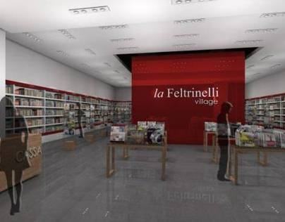RETAIL BOOKSHOP LA FELTRINELLI VILLAGE MILAN ITALY