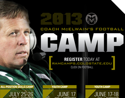 Coach McElwains Football Camp Mailer