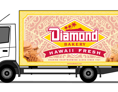 Diamond Bakery Truck Illustration