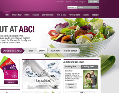 ABC Department Store, Website Re-Design