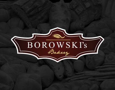 "Logo for ""BOROWSKI's"" Bakery"