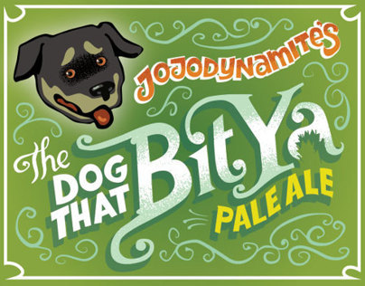 Beer Label: The Dog That Bit Ya