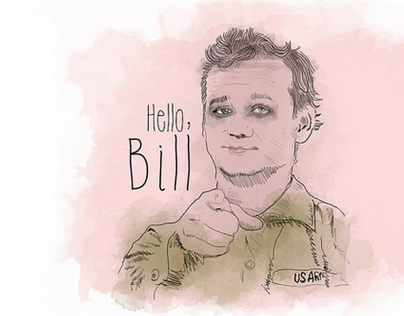 Bill Murray Says [Hello]