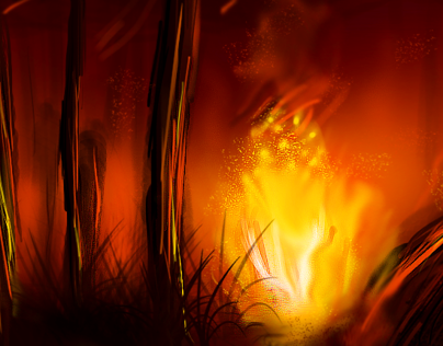Digital Painting - Fire