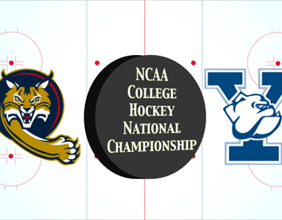 Quinnipiac v Yale for NCAA Hockey National Championship
