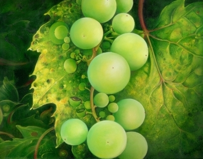 "OIL PAINTING ""The Grapes"""