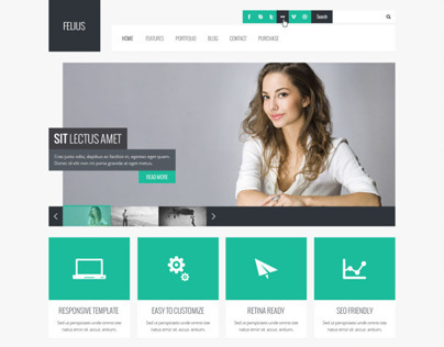 Felius – Multipurpose PSD Template
