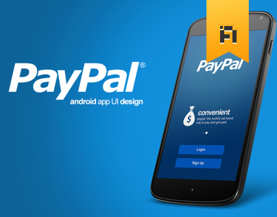 PayPal Android App UI design