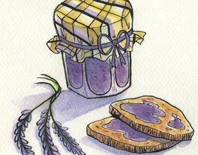 Lavender: Food Spot Illustrations