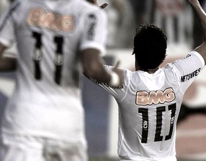Santos FC - Centennial jersey number typography