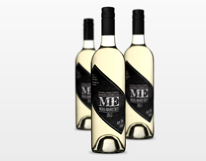 Apple wine label design