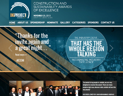 Big Project ME 2013 Awards website