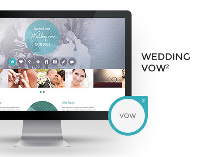 Wedding vow - HTML responsive template