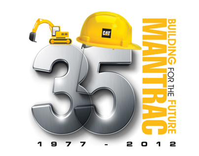 Mantrac 35 years logo