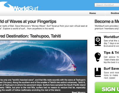 World Surf :: Human Computer Interaction and Usability