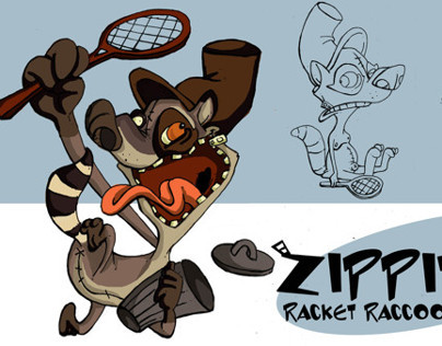 zippites Racket Raccoon