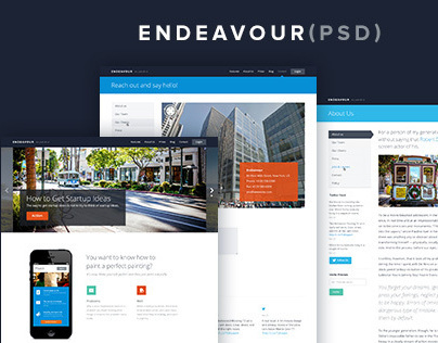 Endeavour PSD Template