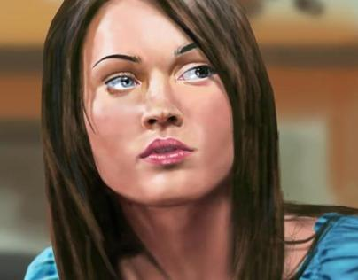 Megan Fox Digital Painting
