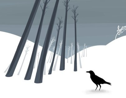 CROWS a digital painting