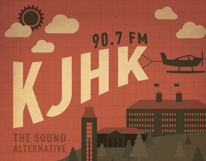 KJHK Programming Poster, Spring 2012