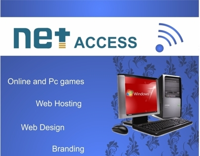 poster design for net access internet cafe