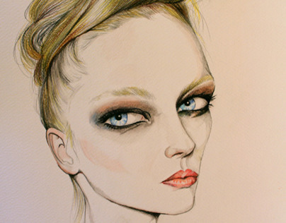 fashion portrait illustration